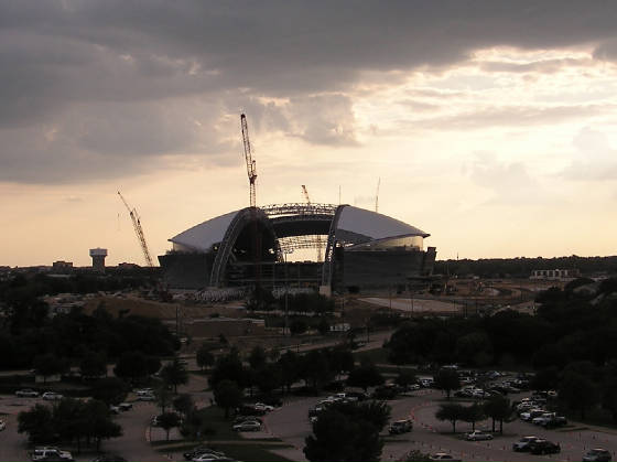 Off in the very near distance,the Cowboys new home